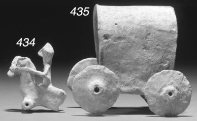 A SYRIAN TERRACOTTA MODEL OF A