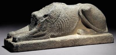 AN EGYPTO-PERSIAN GREY STONE R
