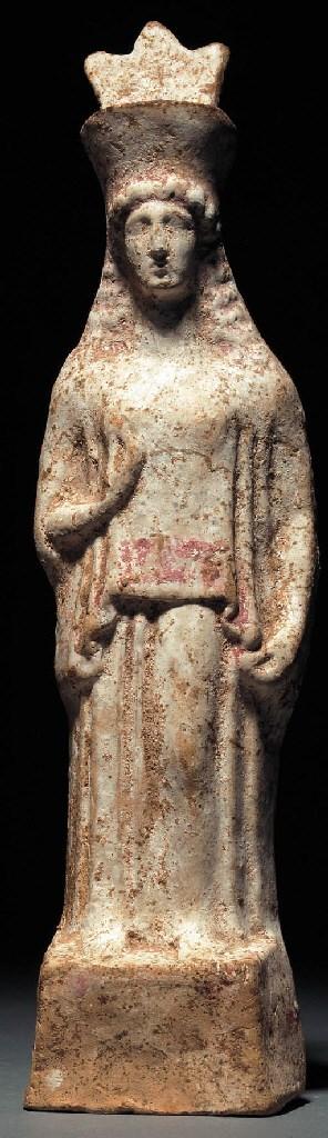 A BOEOTIAN TERRACOTTA FEMALE F