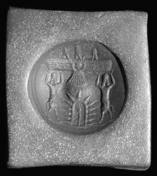 A NEO-ASSYRIAN BLUE CHALCEDONY