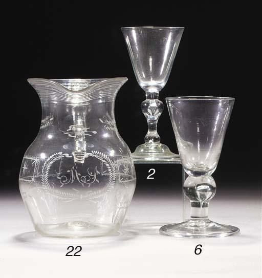 A baluster wine glass