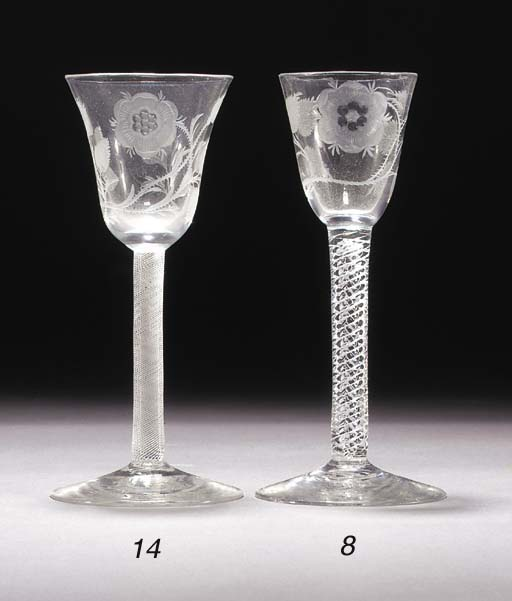 A Jacobite airtwist wine glass