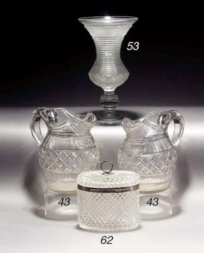 A silver mounted cut casket an