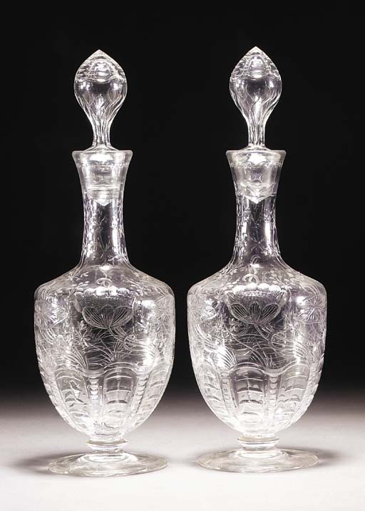 A pair of cut and engraved ovi