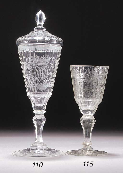 A Silesian engraved goblet and