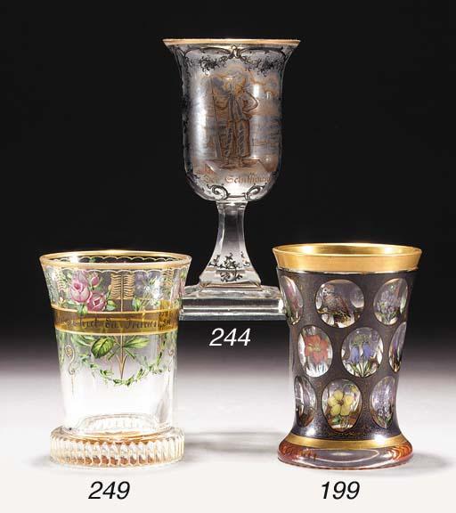 A Bohemian transparent enamell