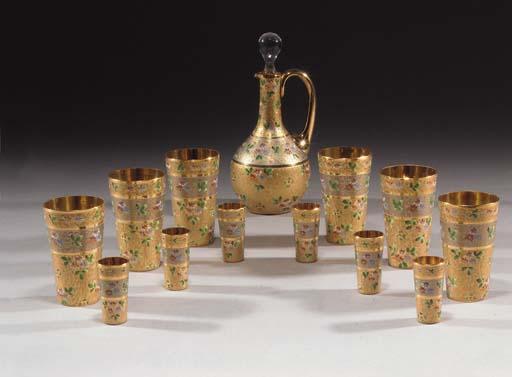 A Bohemian liqueur set