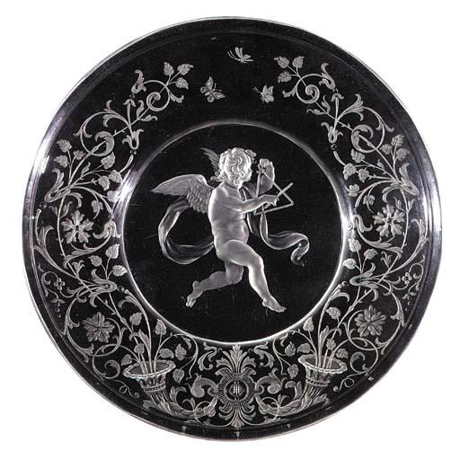 A J. & L. Lobmeyr engraved dis
