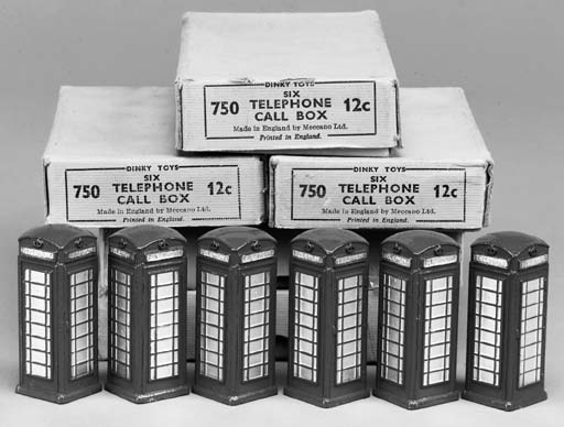 Dinky Telephone Call Boxes