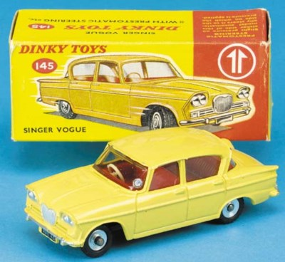 A rare yellow Dinky 145 Singer