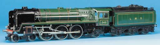 A Biaggi three rail electric 4-6-2 Britannia-class  Locomotive and six-wheeled Tender
