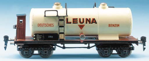 A  Märklin 18540L bogie 'Leuna' Tank Wagon with Brakeman's Hut