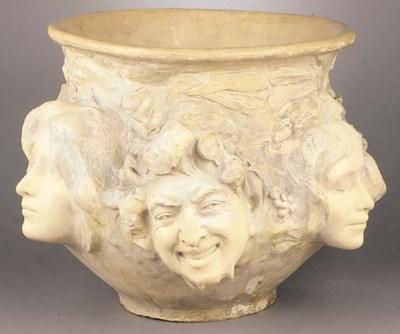 A Goldscheider pottery vase