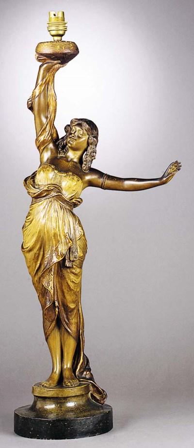 A Goldscheider pottery figural
