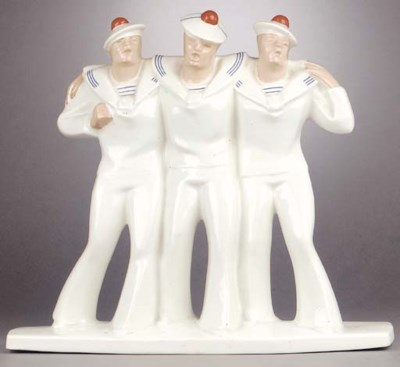 A French ceramic figural group