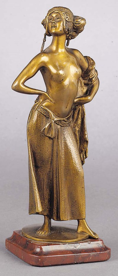 A patinated bronze