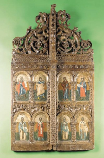 The Royal Doors, Greek