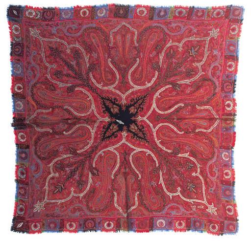 An embroidered amli shawl