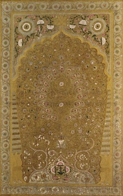 An embroidered hanging,