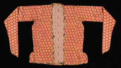 A jacket of crimson silk broca