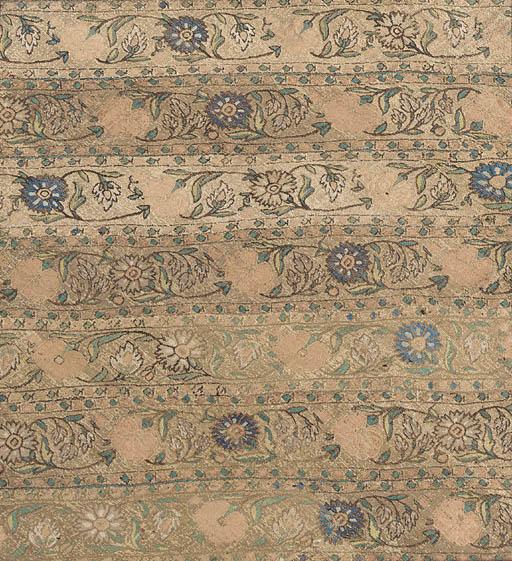 A panel of silk brocade,