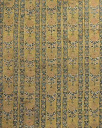 A panel of gilt ground brocade