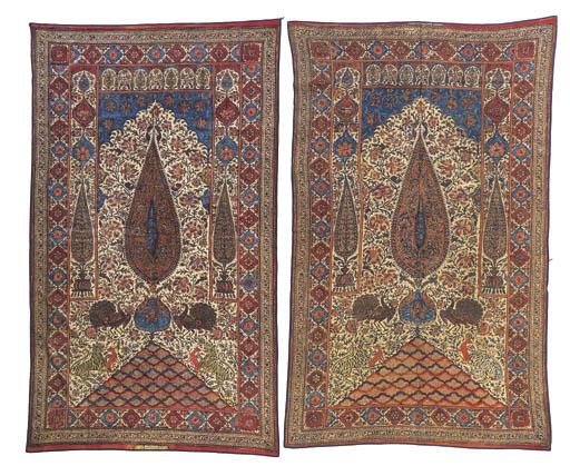 A pair of kalimkari hangings,