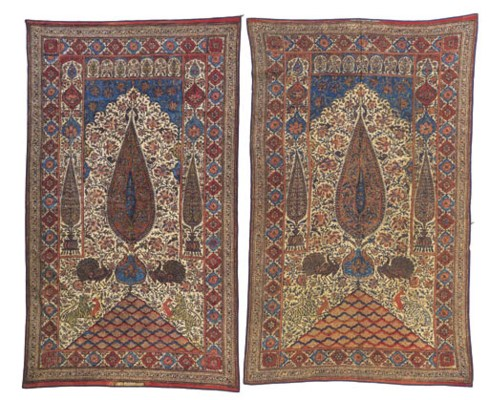 A pair of kalimkari hangings,