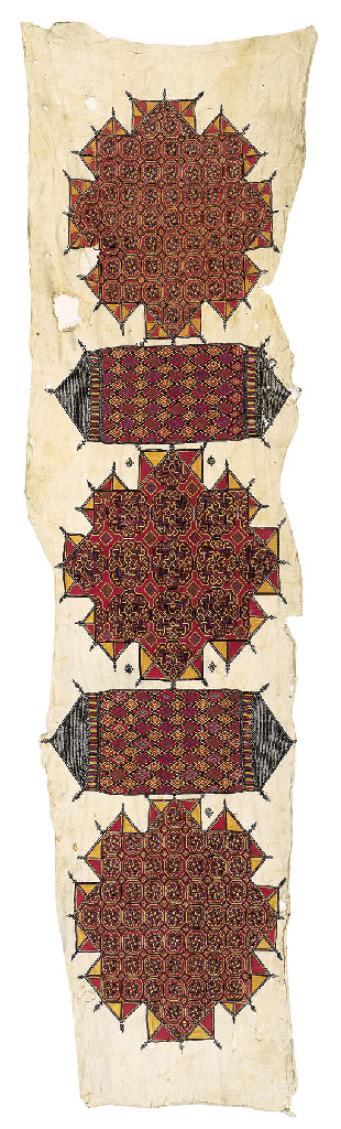 A ceremonial embroidered panel