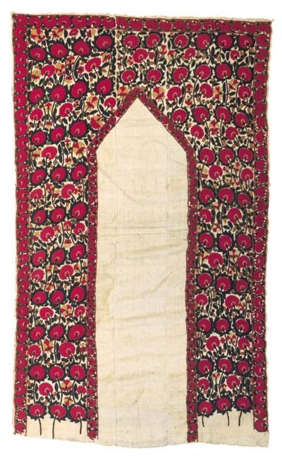 A small susani prayer-arch,