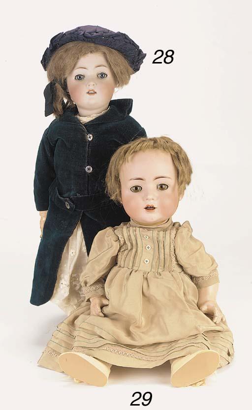 A bisque-head child doll