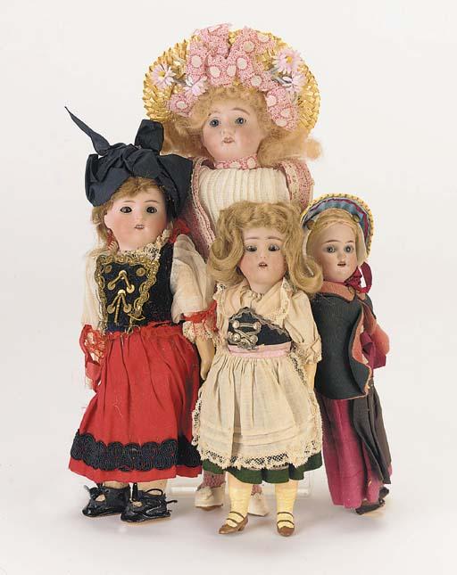 Dolls in original costumes