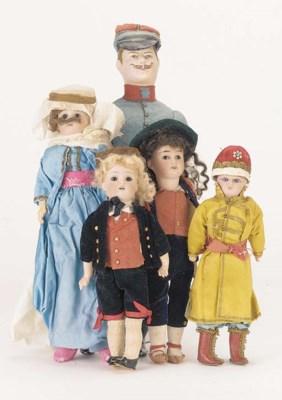 Men Dolls in original costumes