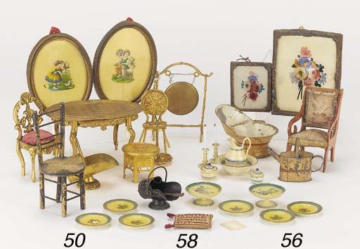 A quantity of gilt metal dolls