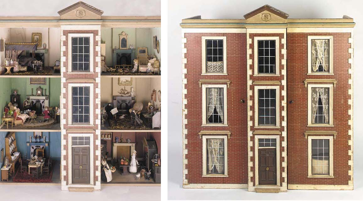 An English wooden dolls' house