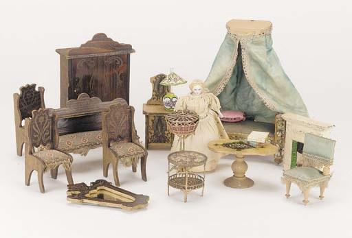 A part set of varnished bedroo