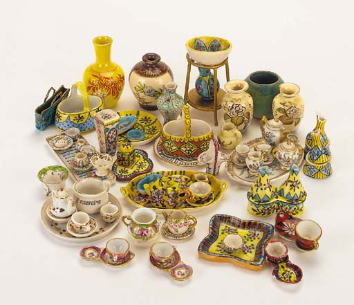 A group of miniature china