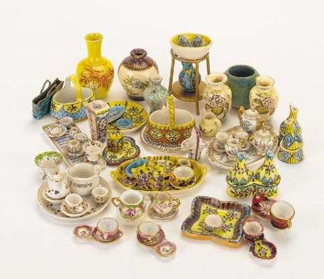 A group of miniature china