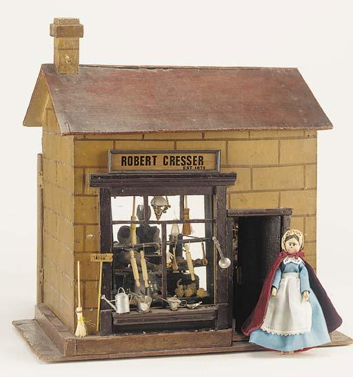 A wooden toy shop