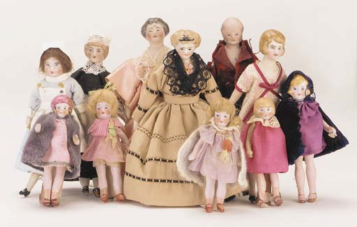 Bisque-headed dolls' house dol
