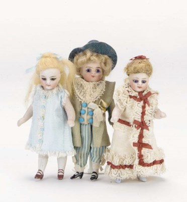 An all-bisque child doll