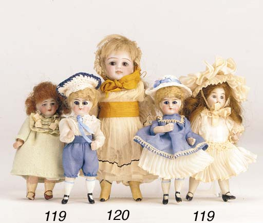 A Kestner all-bisque dolls' ho