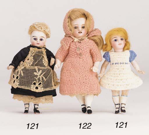 Two Kestner all-bisque dolls'