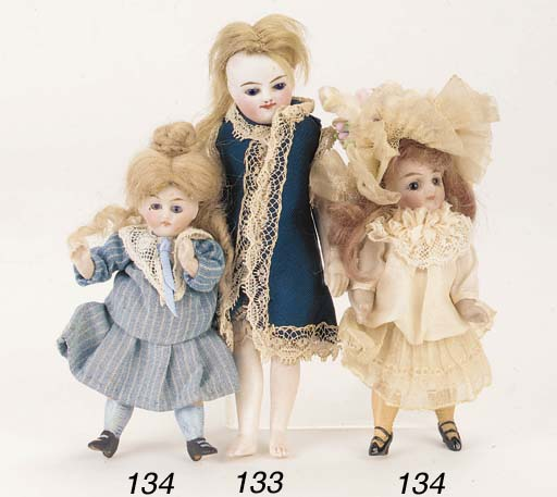 A French all-bisque child doll
