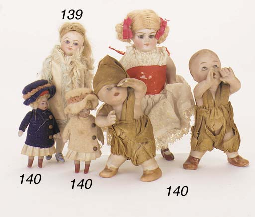 Two bisque Heubach figures of