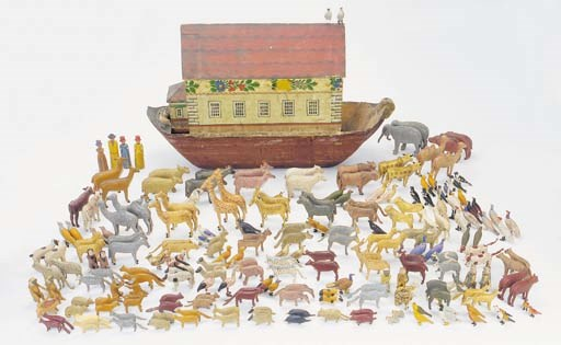 A wood Noah's Ark