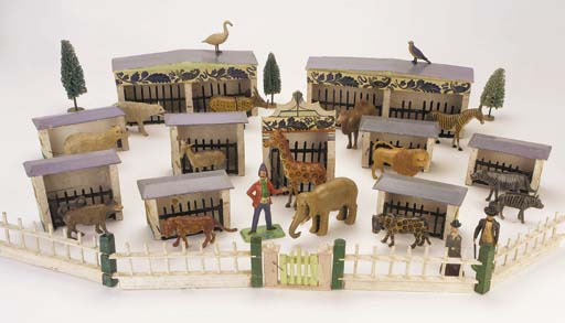 A painted wooden Menagerie