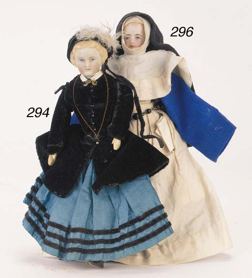 A bisque shoulder-headed doll