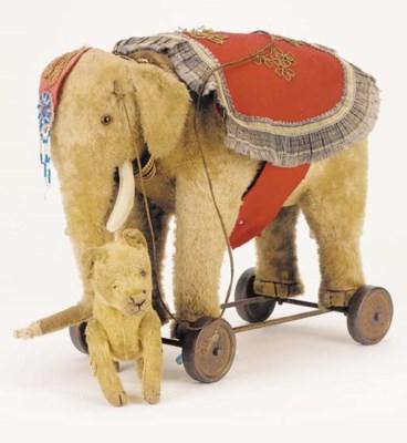 A rare Schuco elephant on whee