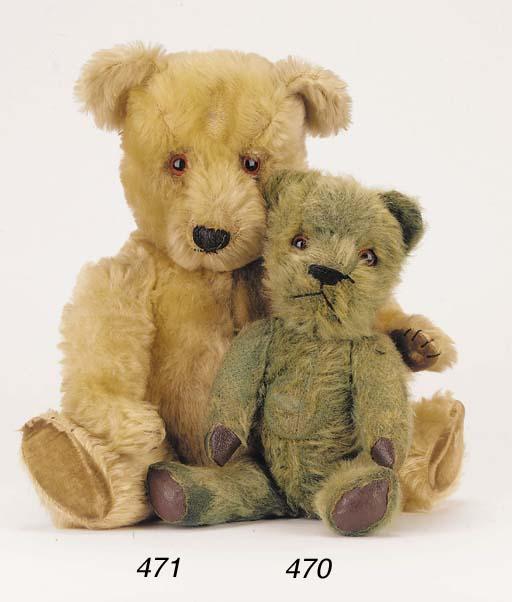 'Robin', a green teddy bear